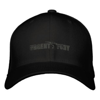 Boné Bordado F do cinza bordado do chapéu no preto