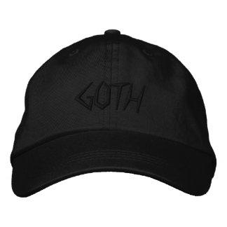 Boné Bordado GÓTICO ajustável personalizado do PRETO do chapéu