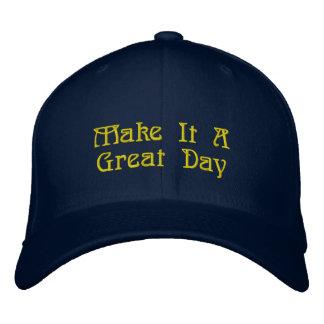 Boné Bordado Grande chapéu, mensagem impressionante
