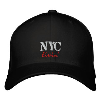 Boné bordado livin/chapéu de NYC