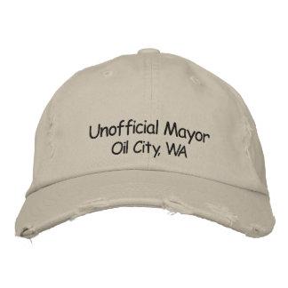 Boné Bordado Mayor não oficial Óleo Cidade, chapéu de WA