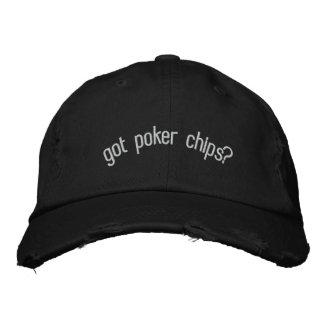 Boné Bordado microplaquetas de póquer obtidas?