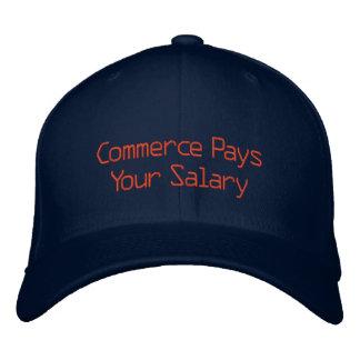 Boné Bordado O comércio paga seu salário