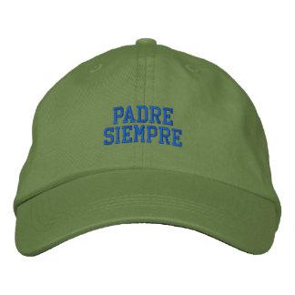 Boné bordado Siempre espanhol do padre