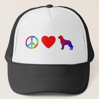 Boné Cães suíços da montanha do amor da paz maiores