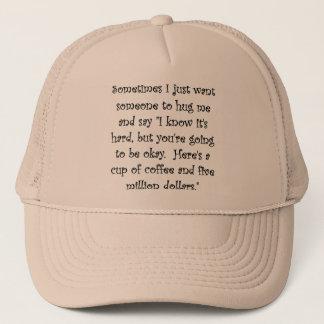 Boné Café e cinco milhão dólares de chapéu engraçado do