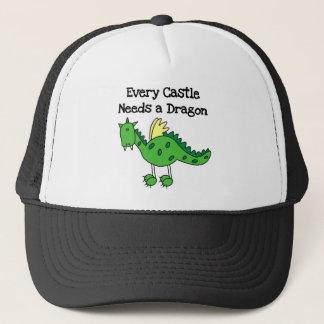 Boné Camiseta e presentes do dragão do castelo