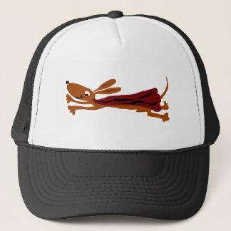 Boné Cão super do Dachshund engraçado do vôo