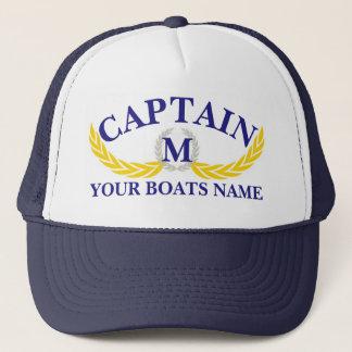 Boné Capitães do motivo da âncora do nome do barco de