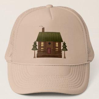 Boné Casa da cabana rústica de madeira
