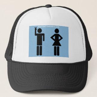 Boné Casado a um chapéu do logotipo do nerd
