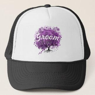 Boné Casamento brilhante da árvore da folha de Purple