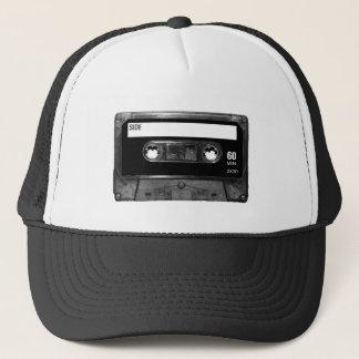 Boné Cassete de banda magnética preta da etiqueta