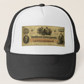 Boné Cem dólares de estados de América confederados
