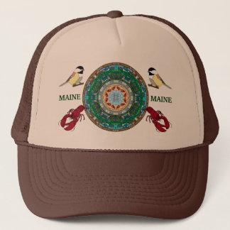 Boné Chapéu 2 da mandala do estado de Maine