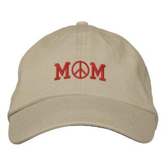 Boné Chapéu bordado do símbolo de paz das mães