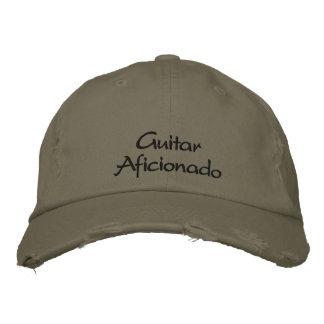 Boné/chapéu bordados aficionado da guitarra boné bordado