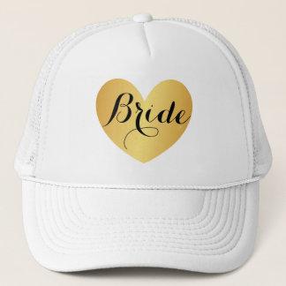 Boné Chapéu - branco do roteiro do coração da noiva