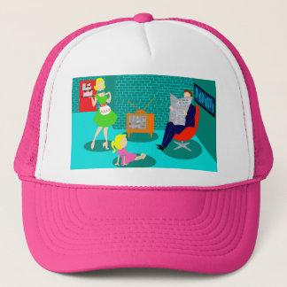 Boné chapéu clássico do camionista da televisão dos
