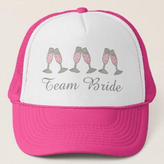 Boné Chapéu cor-de-rosa borbulhante do casamento de