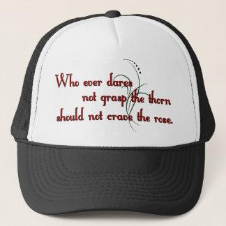 Boné Chapéu cor-de-rosa das citações dos espinhos