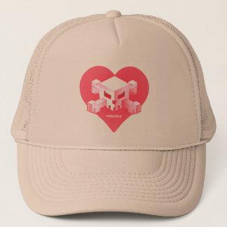 Boné Chapéu Coração-Dado forma   do logotipo do jogo de