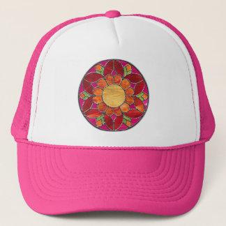 Boné Chapéu da flor do mosaico