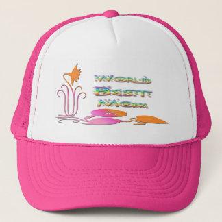 Boné Chapéu da mamã do mundo o melhor