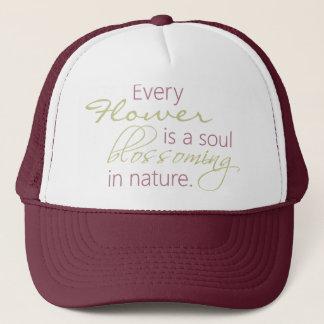 Boné Chapéu de florescência das citações da alma da