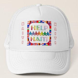 Boné Chapéu de Haiti das mãos de ajuda