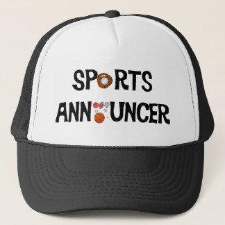Boné Chapéu do anunciador de esportes