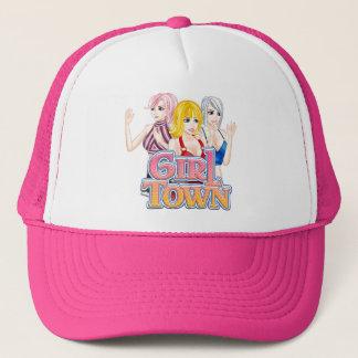 Boné Chapéu do camionista da cidade da menina
