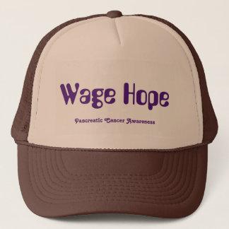 Boné Chapéu do camionista da esperança do salário