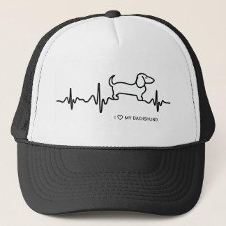 Boné Chapéu do camionista da pulsação do coração do