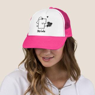 Boné Chapéu do camionista de Mepple da noiva