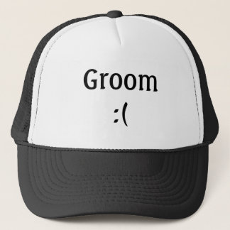Boné Chapéu do camionista do casamento do noivo
