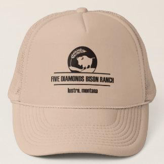 Boné Chapéu do camionista do rancho do bisonte de cinco