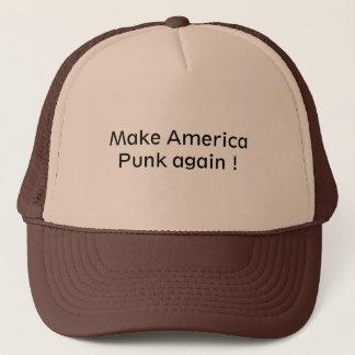 Boné Chapéu do camionista para um amante do punk