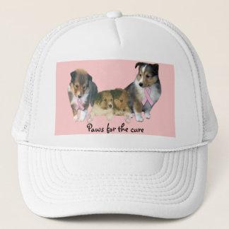 Boné Chapéu do cancro da mama de Sheltie