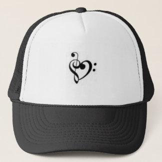 Boné chapéu do coração da música
