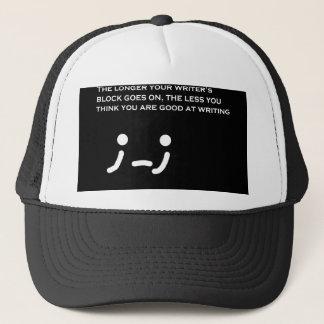 Boné Chapéu do momento do autor do bloco do escritor