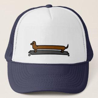 Boné Chapéu do tampão do camionista do cão do dachshund