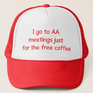Boné Chapéu engraçado do amante do café