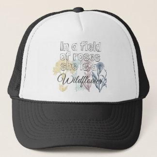 Boné Chapéu feminino do camionista do Wildflower