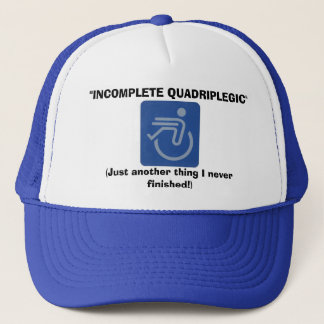 Boné Chapéu incompleto do quadrilátero