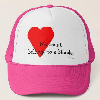 Boné Chapéu louro do coração