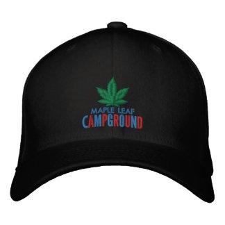 Boné Chapéu verde do acampamento da folha de bordo
