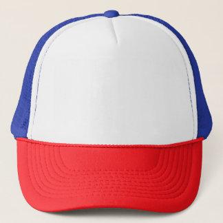 Boné Chapéu vermelho/branco/azul do camionista