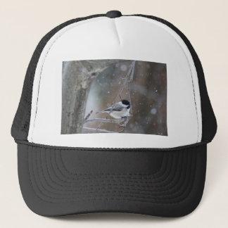 Boné Chickadee Preto-tampado - aves canoras