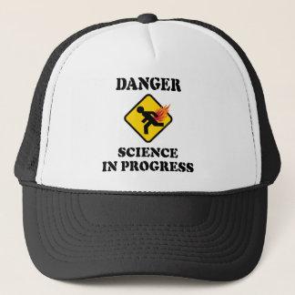 Boné Ciência do perigo em andamento - flamejante Fart o